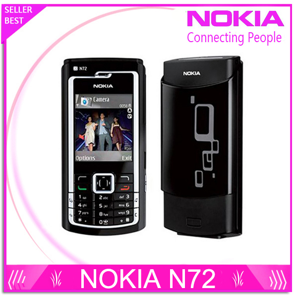 Original Nokia N72 Mobile Phones Bluetooth Jave FM Radio 2MP support English or Russin keyboard(China (Mainland))