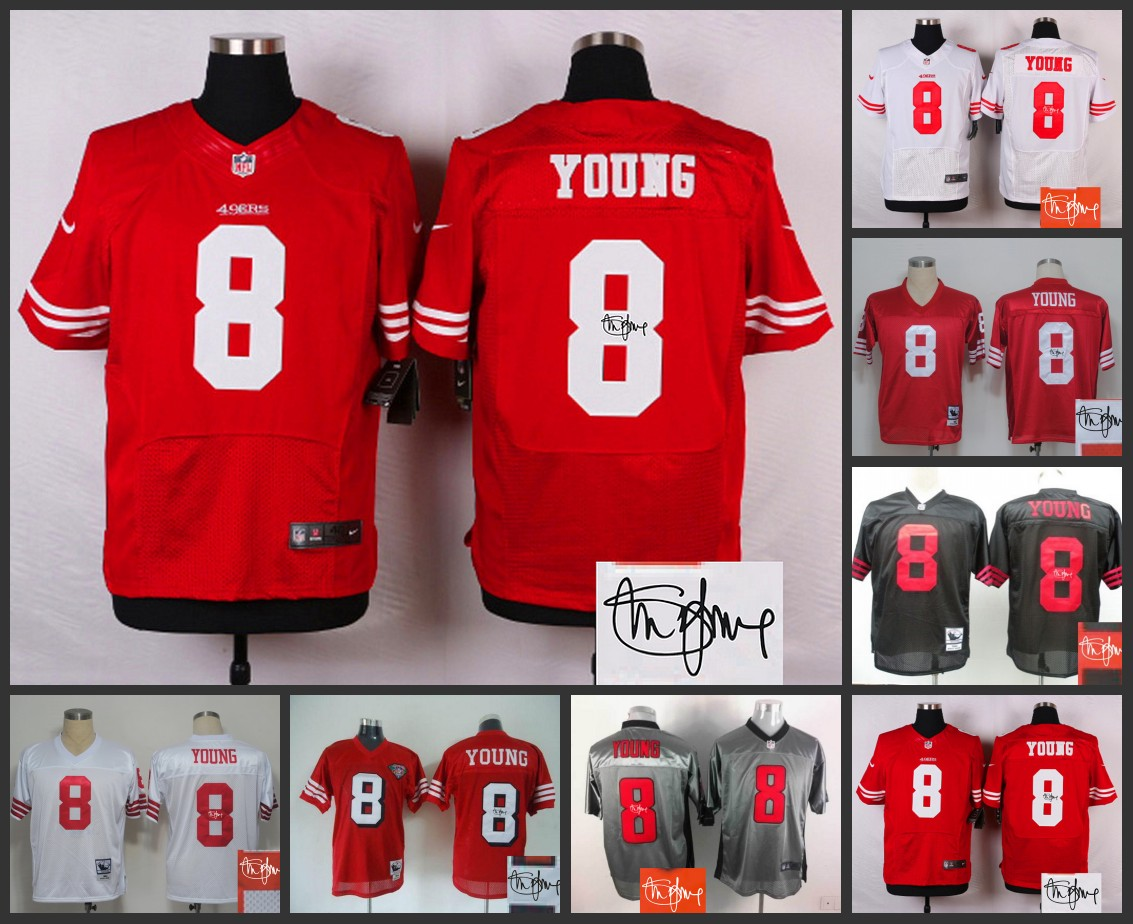 Signature Edition 100% Elite men San Francisco 49ers 8 Steve Young(China (Mainland))