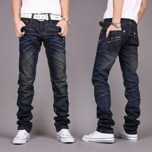 2916 men's jeans nostalgic crushed restoring ancient ways of cultivate one's morality cowboy pants blue-black