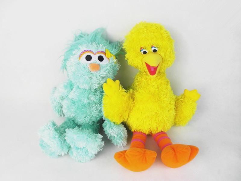 Sesame street yellow birds 37cm blue zoe 30cm dolls price by piece not set(China (Mainland))