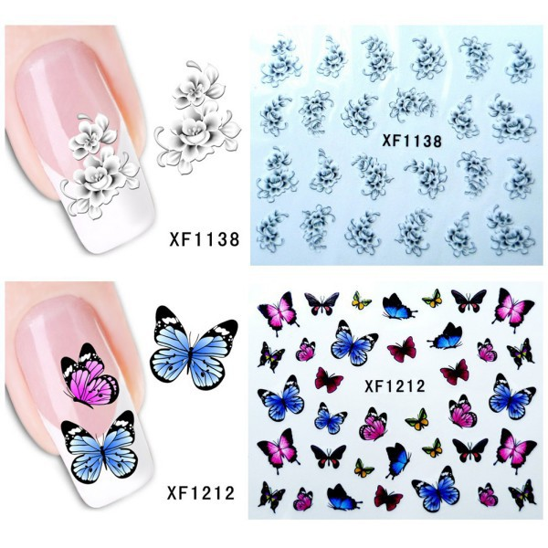 5pcs/lot Beauty DIY Fingernail Round Stickers Tattoos Manicure Nail Tips Art Decals Best(China (Mainland))