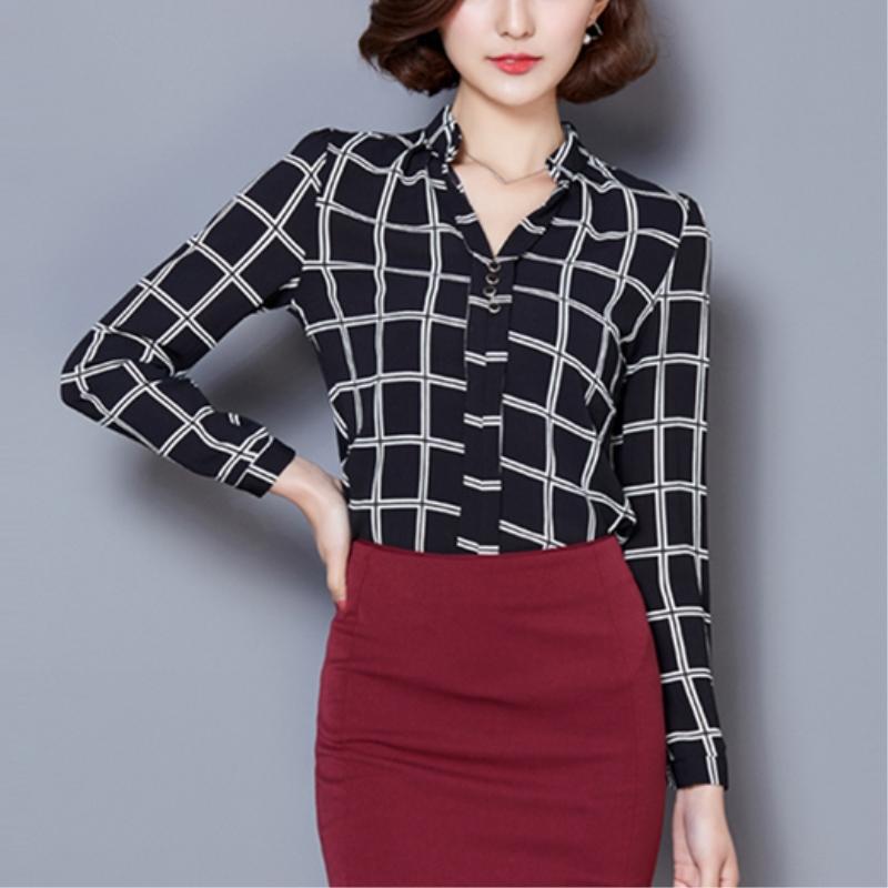 2016 Large size shirts women top white office chiffon blouses vintage polka dot shirt korean clothes blusas cheap clothes china(China (Mainland))