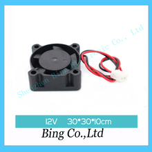 Wholesale 10pcs Brushless DC Cooling 5 Blade Fan 3010 3cm 30mm 12V 30x30x10mm Hot Sale In Stock