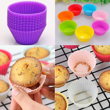 12PCS Silicone Soft Round Cake Muffin Chocolate Cupcake Liner Baking Cup Mold(China (Mainland))