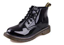 COOTELILI Plus Größe Botas Patent Leder Stiefel Frauen Schule Stil Lace Up Schuhe Für Mädchen Rot Schwarz Motorrad Ankle BootsM 40(China)