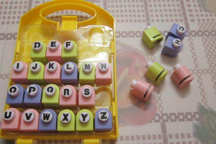 26 english letter alphabet craft hole punch set alphabet paper punch dozen flower