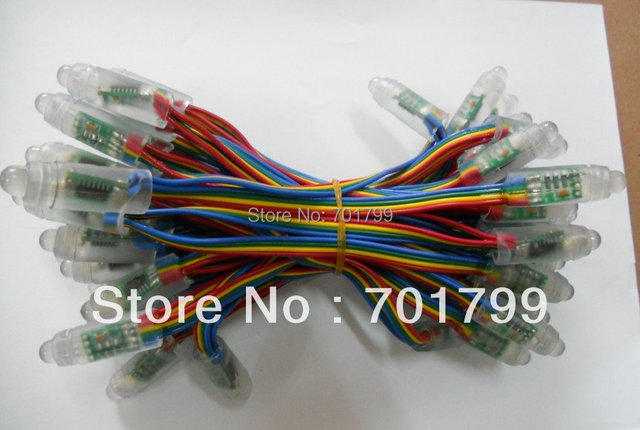 DC5V input,WS2801 IC,50 nodes a string;IP68;256 gray scale; 4 wire(red,yellow, green,blue)