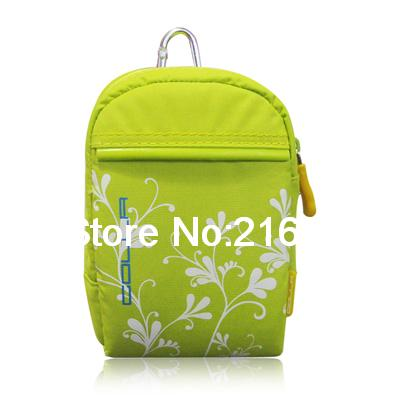 Fashionable Durable Green Camera Bag with White Flower Pattern 03(China (Mainland))
