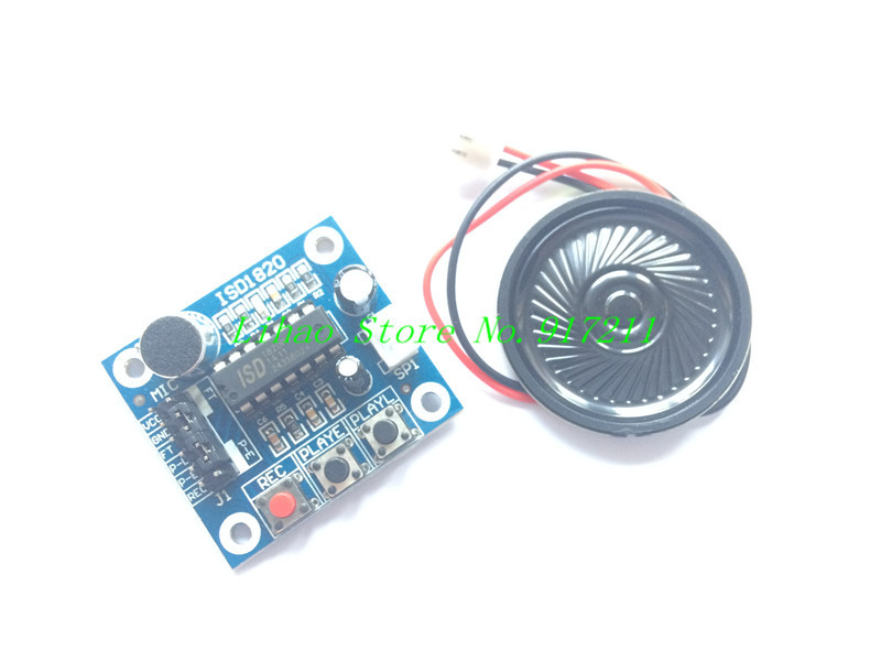 Free Shipping ISD1820 Voice Recording Recorder Module With Mic Sound Audio Loudspeaker New(China (Mainland))
