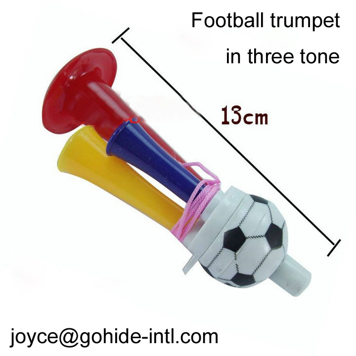 A Football fans trumpet playing musical instruments sport cheer props children's toys Semi-flared oboist props toy free shipping(China (Mainland))
