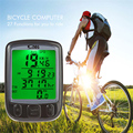 SunDing SD 563A Multifunction Bicycle Computer Waterproof Cycling Odometer Bike Computer Speedometer with LCD Green Backlight