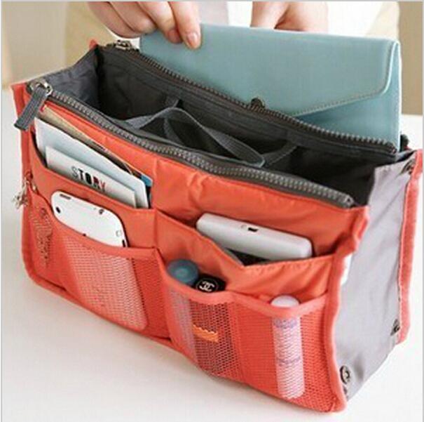 Necessaries Make up organizer bag Women Men Casual travel bag multi functional Cosmetic Bags storage bag in bag Makeup Handbag(China (Mainland))