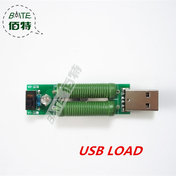USB mini discharge load resistor 2A/1A With switch 1A Green led, 2A Red led(China (Mainland))