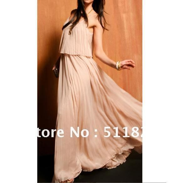 Women's Pleated BOHO Sexy Maxi Long Dress Chiffon New  free shipping 5106