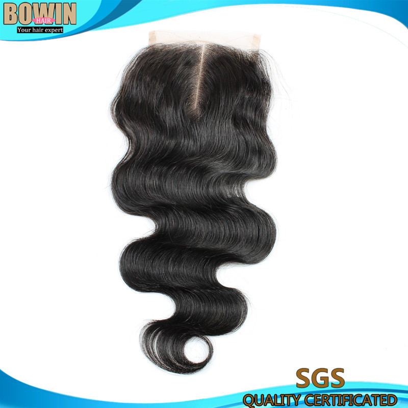 Grade 6A Cheap Price Peruvian Lace Closure 4*4 Middle Part Body Wave Closure Bleached Knots Unprocessed Human Hair <br><br>Aliexpress