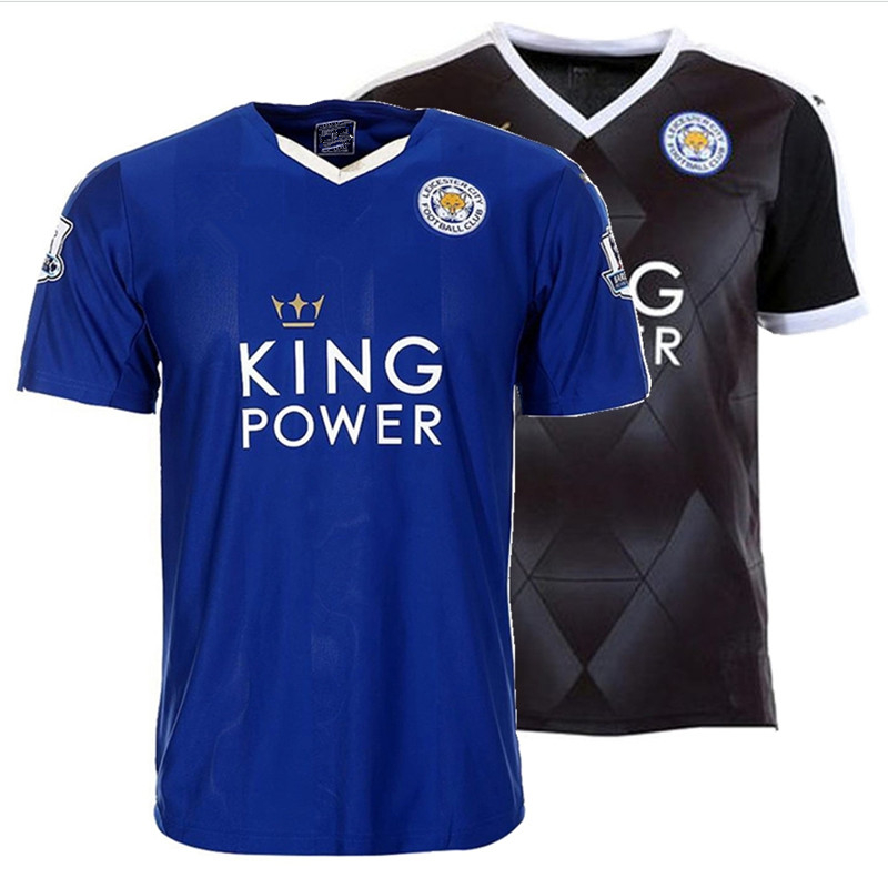 New Offer! Leicester City Soccer Jerseys Breathable Football Jerseys Quick Dry Men Short Sleeve Jersey 2016 Cheap Sports Jerseys(China (Mainland))