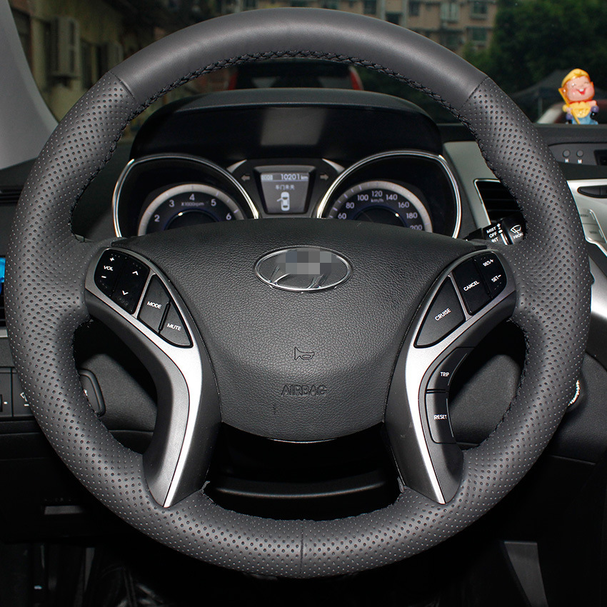 Car Steer Wheel Cover for Hyundai ELANTRA Special Automotive car leather hand-stitched leather steering wheel cover to cover<br><br>Aliexpress