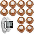 Bank Restaurant Wireless Waiter Service Calling System 1 Watch 12 Button White Wrist Pagers Wireless Waiter