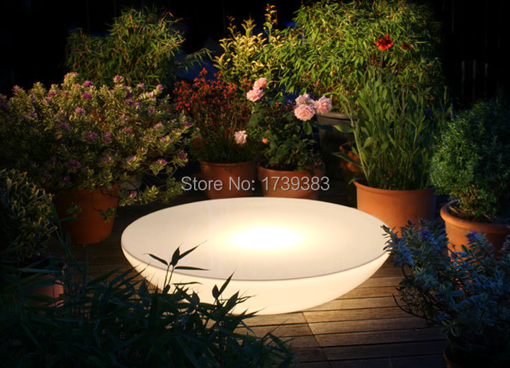 D60*H20 CM Colorful Led Illuminated Furniture,Lounge Variation LED,led coffee table rechargeable for Bars,EVENTS AND Christmas(China (Mainland))