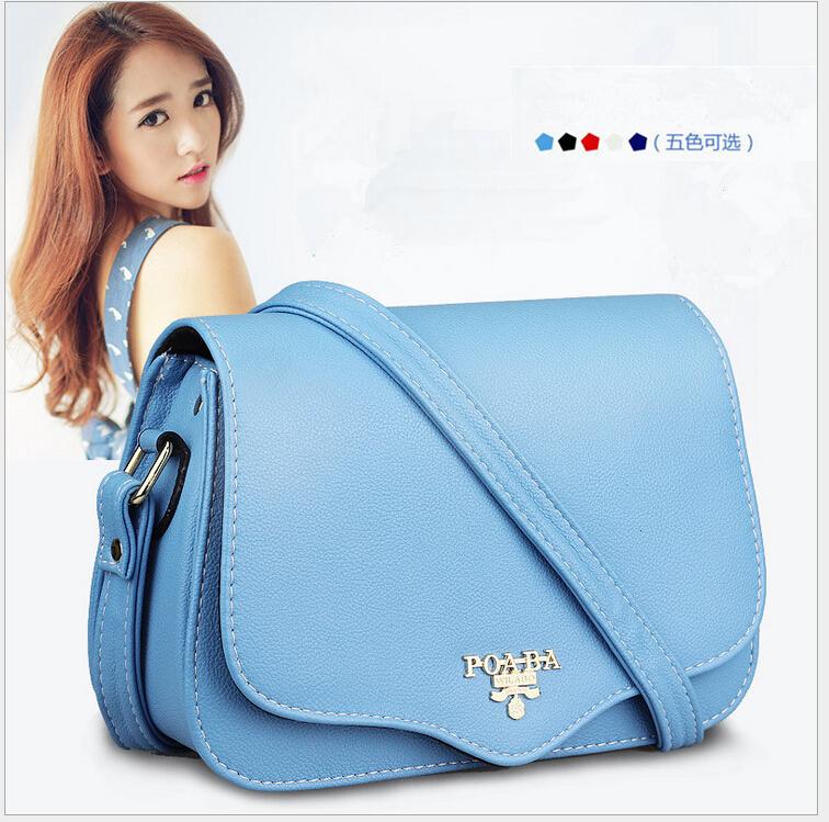 New arrival Lady Rivet women Handbag lady letter bag messenger handbag bags 5 Color Free shipping(China (Mainland))