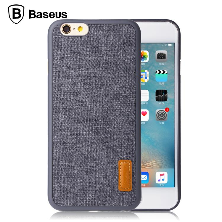 BASEUS Brand ARTISTICAL Style PP + Fabric Stylish Back Case For iPhone 7 / 7 Plus, For iPhone 6s 6 / 6s Plus & Retail Box