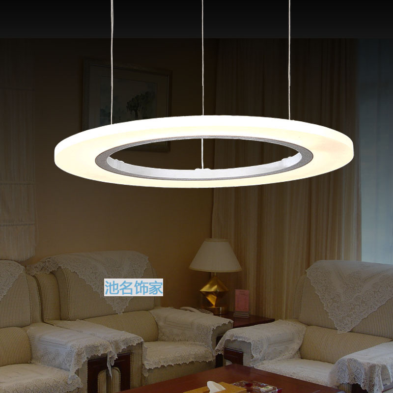 Modern Circle LED Bedroom Pendant Lights 20 40CM Suspension Luminaire Acrylic