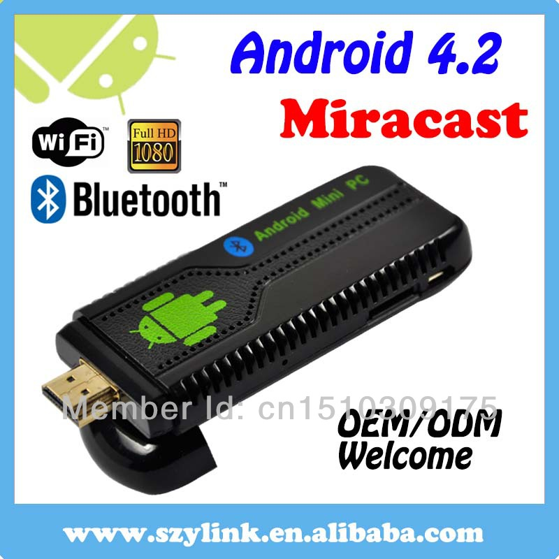 Factory MK806 RK3066 Quad Core 1.6Ghz Android 4.2.2 1GB+8GB Android TV box, Smart Mini PC TV Stick, Bluetooth 4.0(China (Mainland))