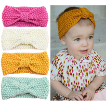 Buy Newborn Knit Crochet Top Knot Elastic Turban Headband Kids Girls Head wrap Hair Bands Ears Warmer Headband Accessories for $1.21 in AliExpress store