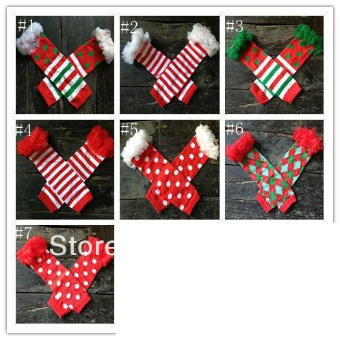Christmas X-mas xmas baby girls leg warmers with chiffon ruffle baby leg warmer,legging