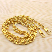"20pcs 120CM/ 47"" long Golden Black Metal Chain for Purses/Bags DIY ,Hight Quality Purse Accessory ,Freeshipping(China (Mainland))"