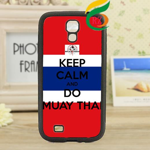 keep calm and do muay thai 2 fashion original cell phone case cover for Samsung Galaxy S3 S4 S5 S6 S7 NOTE 2 / 3 / 4 #A3494(China (Mainland))