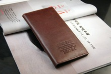 NEW Mens Long Leather Wallet Pockets Card ID Holder Clutch Bifold Purse 2 Colors