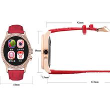2016 горячей № 1 D2 Bluetooth 4.0 женщины алмазный смарт часы для iPhone Samsung android-ios Smartwatch поддержка частота пульса мониторинг