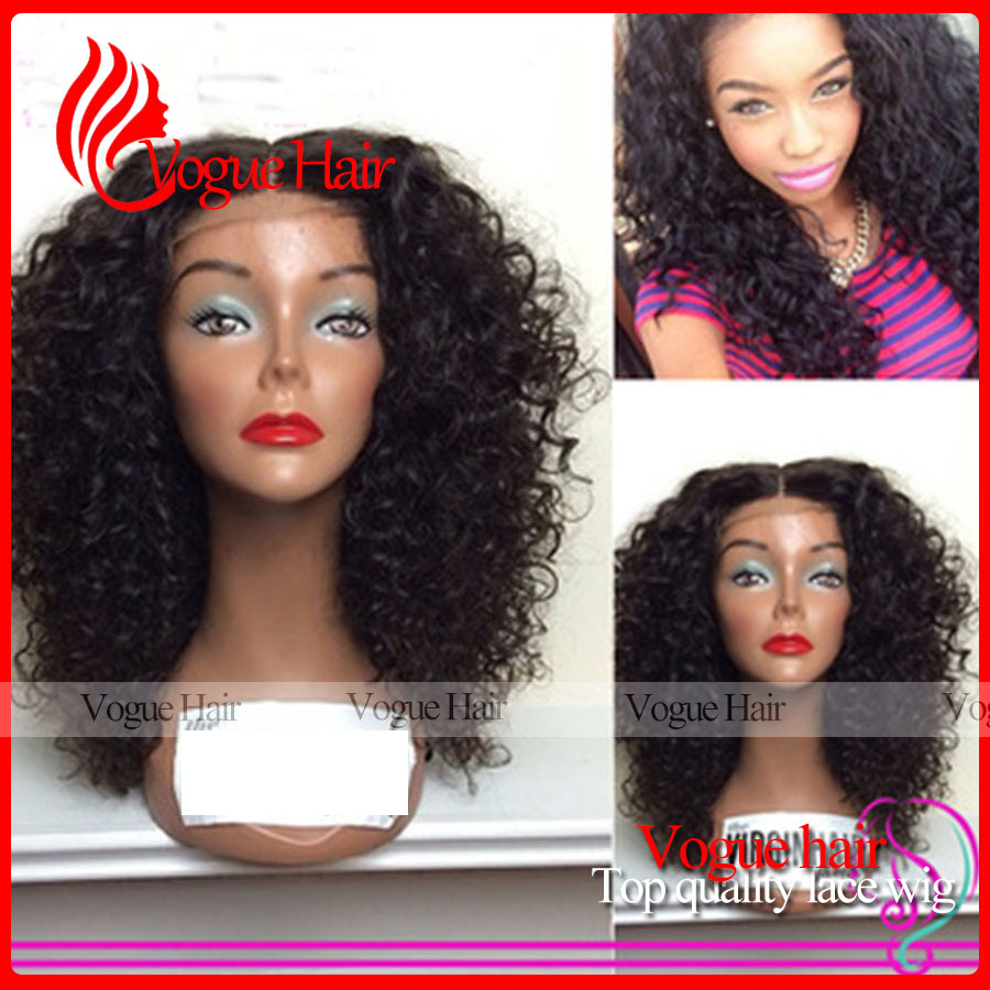 Afro Kinky Curly Wig Brazilian Glueless Lace front wigs For Black Women synthetic Lace Wigs With Baby Hair Bleached knots<br><br>Aliexpress