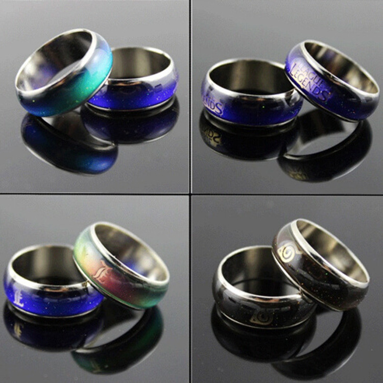 605 New Arrival Hot Sell Novelty Creavity Temperature Control Unisex Ring Changed Color Ring R1181(China (Mainland))