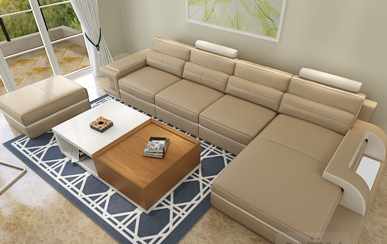 Sectional Leather Sofa Living Room Sofa Set Modern Leather Sofa Foshan RE115B(China (Mainland))