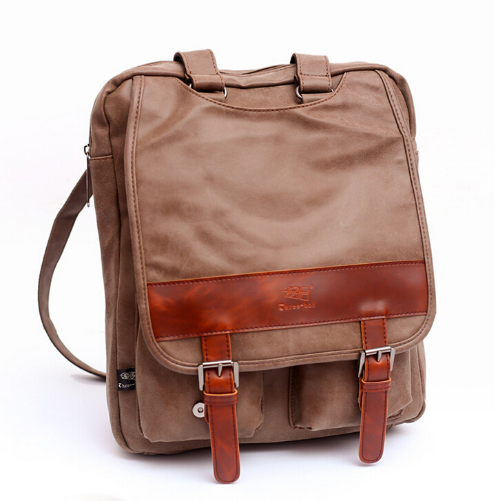 Hot sale Grind Arenaceous Pu leather laptop backpacks Restore ancient ways travel backpack bags black/brown men school backpacks(China (Mainland))