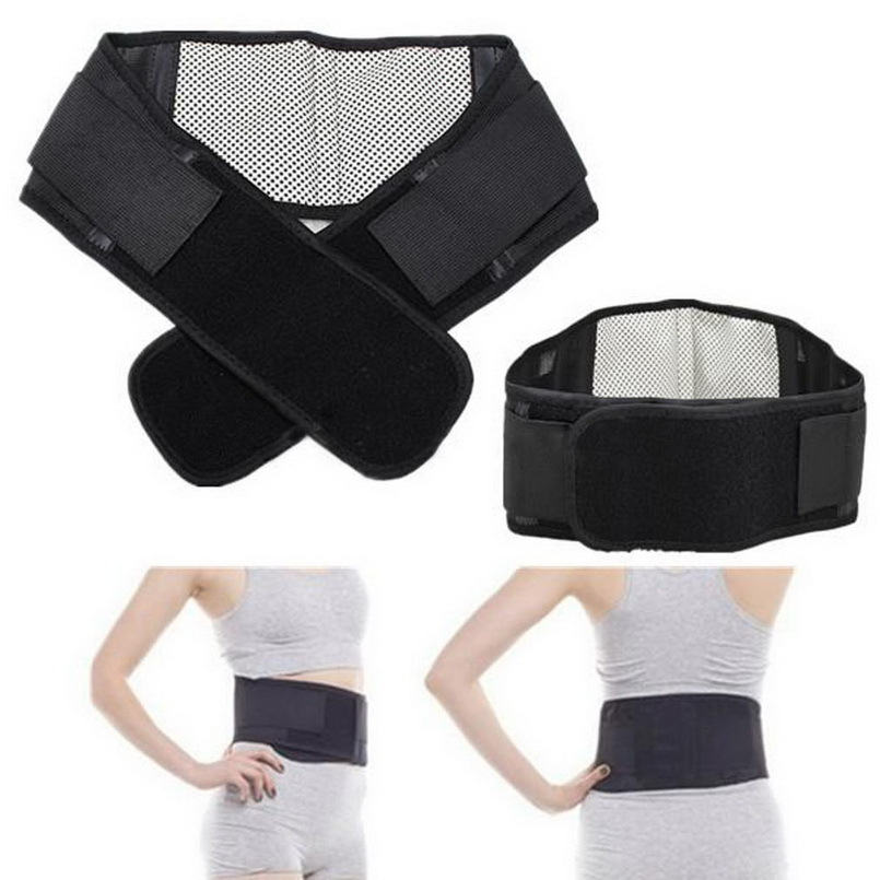 product 1pcs Self-heating Tourmaline Magnetic Belt Lumbar  Support Brace Double Banded Adjustable Pad