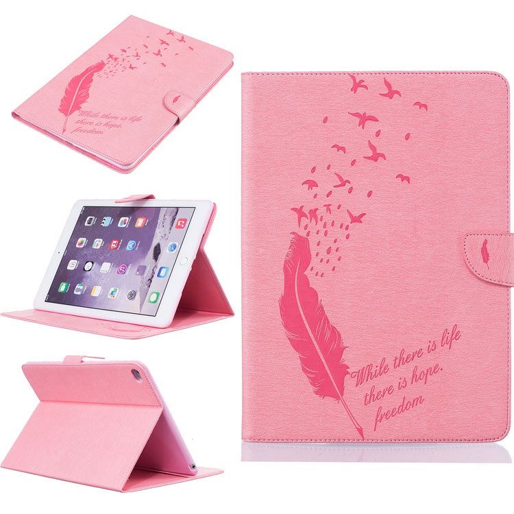 Luxury Retro Leather Flip Cover tablet Case for Apple Tablet iPa 6 tab 6 Smart Cover wake up / sleep hold case color print coque(China (Mainland))