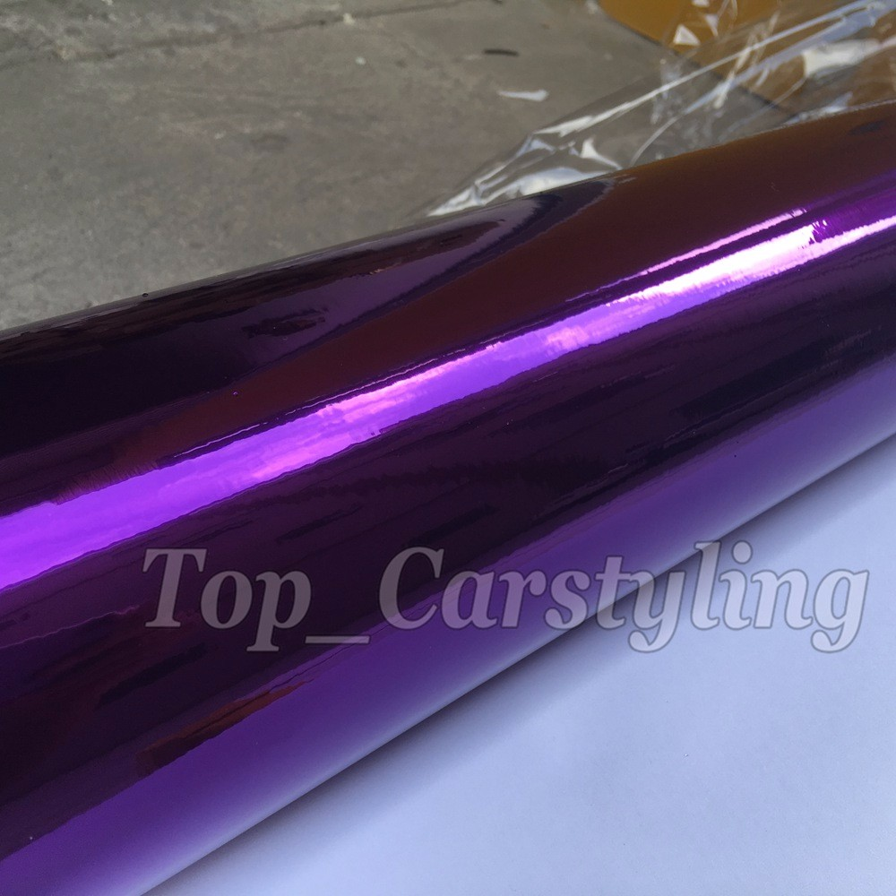VIOLET purple chrome stretchable mirror car wrapping film with air free (5)