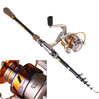 New 1.8-2.7M Fishing Rods Reels Combo Carbon Fiber Spinning Fishing Rod and 14BB Fishing Reel Set Lure Boat Fishing Pole Kit