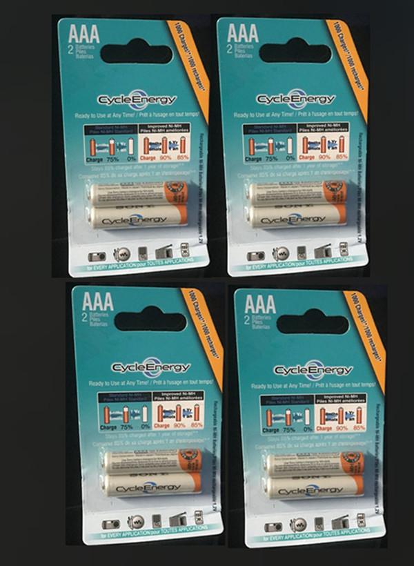 8pcs/4packs 2016 Original New 1.2V 4300mAh Ni-MH AAA Battery 3A Rechargeable Batteries for sony pilas recargables Batteria(China (Mainland))