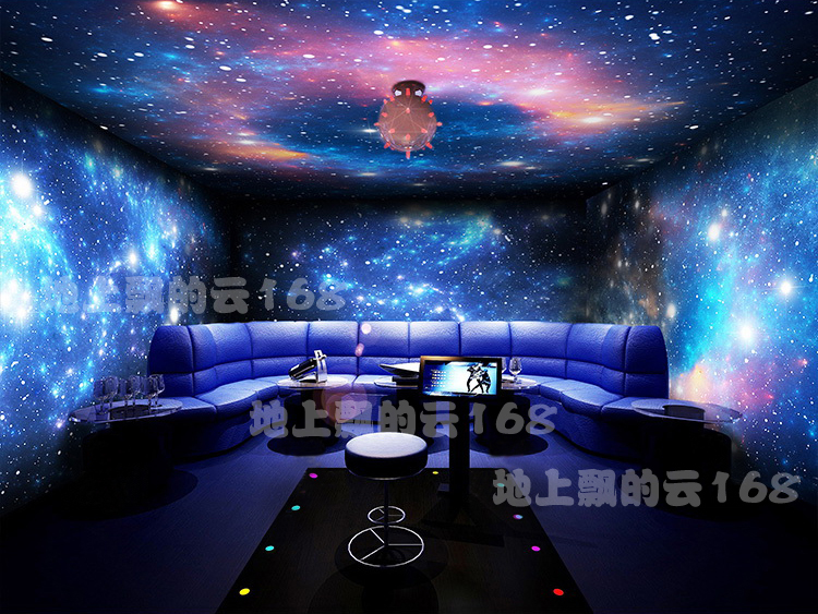 3d space sitting room bedroom sky background wall paper for Ceiling mural in a smoker s lounge