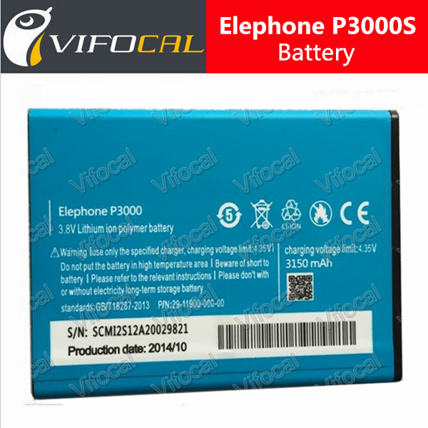New 100% Original 3150Mah Elephone P3000s Battery bateria for Mobile Cell Phone + Free Shipping + Tracking Number - In Stock(China (Mainland))