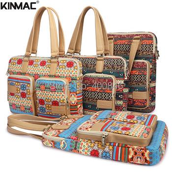 """2015 горячая распродажа новый Kinmac 14 """" плечо мешок компьютера, холст ноутбук сумки для женщин 15.6, для apple , macbook air 13 чехол пакета(ов)"""