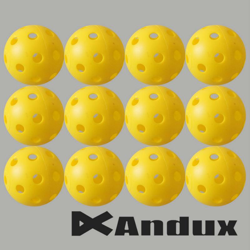 12pcs golf ball plastic practice balls airflow ball wiffle ball golf swing trainer aids yellow(China (Mainland))