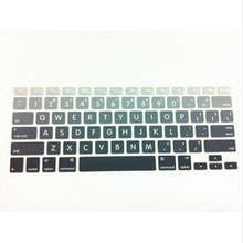 15 X Big Letter Gradient Rainbow Keyboard Cover Protector Skin Protective Film For All Apple Macbook Mac Air Pro Retina 13 15 17
