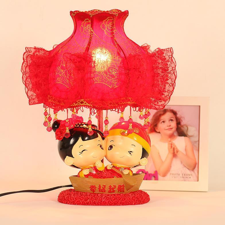 Bedside lamp bedroom lamp wedding doll wedding gift ideas and practical red wedding room<br><br>Aliexpress