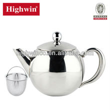 Factory direct sale 1.5L  stainless steel teapot , tea set ,tea kettle with strainer