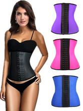 4 Steel Bones 2015 women fashion hot sale shaper cincher waist training sport latex corset bustier underbust free shipping 5374(China (Mainland))